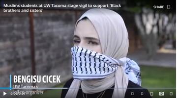 انجمن اسلامی دانشگاه تاکوما نشست همبستگی با سیاه پوستان برگزار کرد