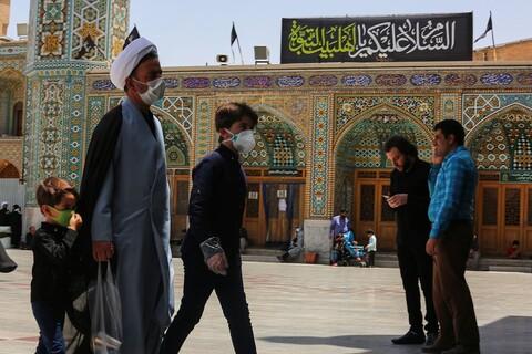 تصویری رپورٹ|حرم حضرت فاطمہ معصومہ قم میں حضرت امام جعفر صادق کی شہادت کی مناسبت سے عزاداری