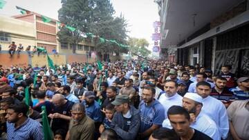 حماس در مخالفت با طرح الحاق کرانه باختری تظاهرات گسترده ای برگزار کرد