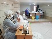 تولید ماسک در مدرسه علمیه الزهرا(س) خوی ادامه دارد