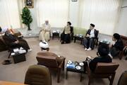 بالصور/ أعضاء لجنة الغدير يلتقون بآية الله الأعرافي بقم المقدسة
