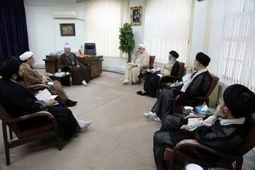 تصاویر/ دیدار اعضای ستاد غدیر با آیت الله اعرافی