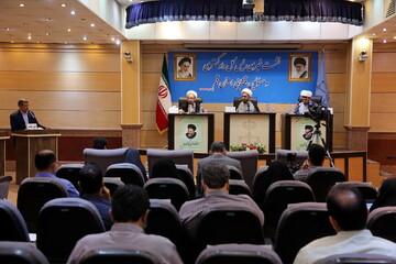 تصاویر/ نشست خبری رئیس کل دادگستری و مسئولان قضایی استان قم