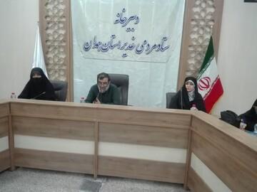 اجرای طرح نصب پرچم غدیر در همدان/ آغاز به کار خواهران در ستاد مردمی غدیر