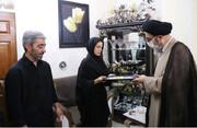 امام جمعه تبریز به منزل کارگر جانباخته کارخانه ماشین سازی رفت