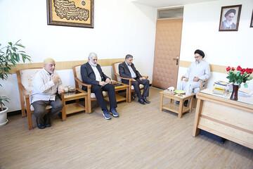 دیدار مسئولان دفتر کتائب حزب الله عراق در قم با مدیر جامعةالزهرا