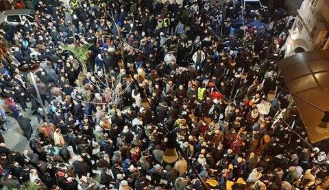 """الآلاف يشاركون في حملة """"الفجر العظيم"""" بغزة والضفة"""