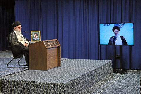 ارتباط تصویری رهبر معظم انقلاب با مسئولان قضایی بهمناسبت روز قوه قضائیه