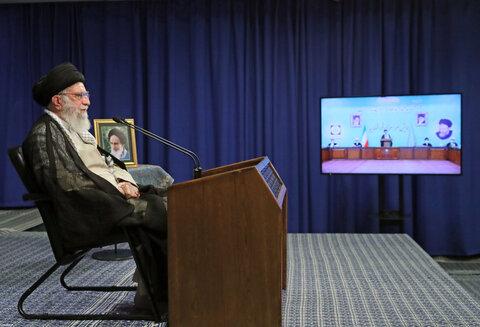 تصاویر/ ارتباط تصویری مسئولان قضایی با رهبر معظم انقلاب