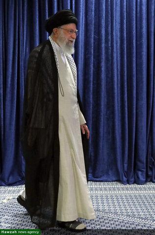 بالصور/ كلمة الإمام الخامنئي في اتّصال متلفز مع مؤتمر السلطة القضائية العام