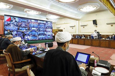ارتباط تصویری مسئولان قضایی با رهبر معظم انقلاب