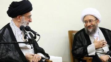 تشکر آیت الله آملی لاریجانی از رهبر معظم انقلاب/ هیچگاه از هیچ فرد فاسدی حمایت نکرده و نخواهم کرد