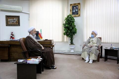 دیدار رئیس سازمان بسیج اساتید، طلاب و روحانیون کشور با آیت الله اعرافی