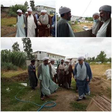 بازدید مدیر حوزه مازندران از پروژه استادسرای مدرسه علمیه زینوند بهشهر