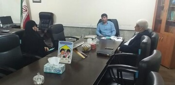 نشست دوجانبه مدیر حوزه خواهران سوسنگرد با مدیر آموزشوپرورش حمیدیه