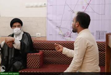 بازدید نماینده ولیفقیه خوزستان از قرارگاه آبرسانی سپاه امام علی(ع) اهواز در غیزانیه+عکس