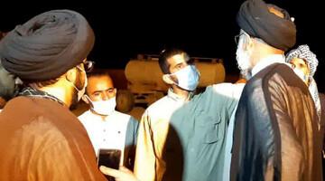 بازدید شبانه امام جمعه اهواز از روستای محروم «ابویرو» بخش غیزانیه