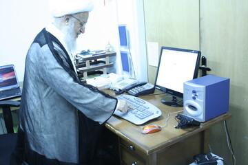 تصاویر آرشیوی از مراسم رونمایی از سایت دفتر آیت الله مکارم شیرازی در سال ۸۷