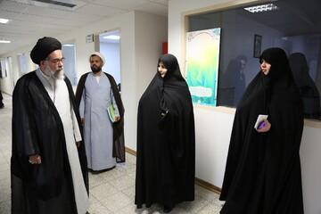 بازدید مدیر جامعه الزهرا از اداره آموزشهای کوتاه مدت معارف اسلامی