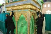 آستان مقدس باب المراد در آران و بیدگل غبار روبی شد