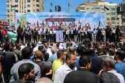 تصاویر/ تظاهرات مردم نوار غزه در مخالفت با طرح الحاق کرانه باختری