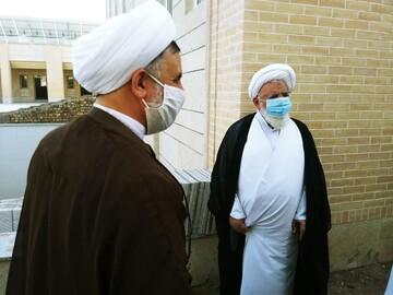 بازدید آیت الله ناصری یزدی از ساختمان جدید حوزه اردکان+ تصاویر