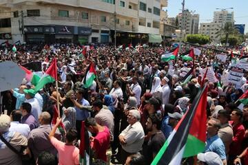 """بالصور/ غزة تنتفض رفضًا لقرار """"الضم"""" الإسرائيلي"""