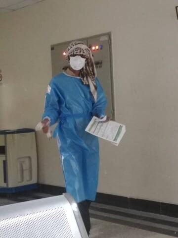 فعالیت طلاب جهادگر در بخش کرونای بیمارستان شهید محمدی بندرعباس