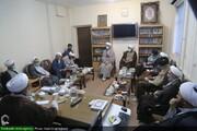 بالصور/ اجتماع مشترك لمديري التبليغ الديني ولجنة التعليم والتربية الإسلامية للحوزة العلمية بقم المقدسة