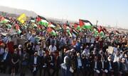 بالصور/  تظاهرة حاشدة فی غزة رفضا لمخطط الضم الإسرائیلی