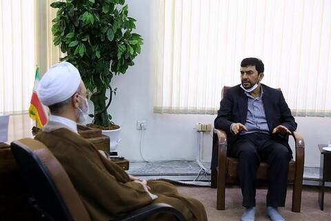 تصاویر/ دیدار سرپرست وزارت سمت با آیت الله اعرافی