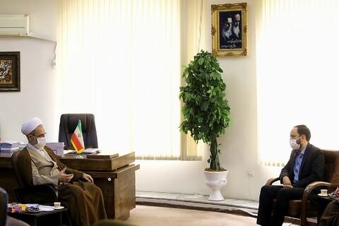 تصاویر/ دیدار مدیر شبکه قرآن با ایت الله اعرافی