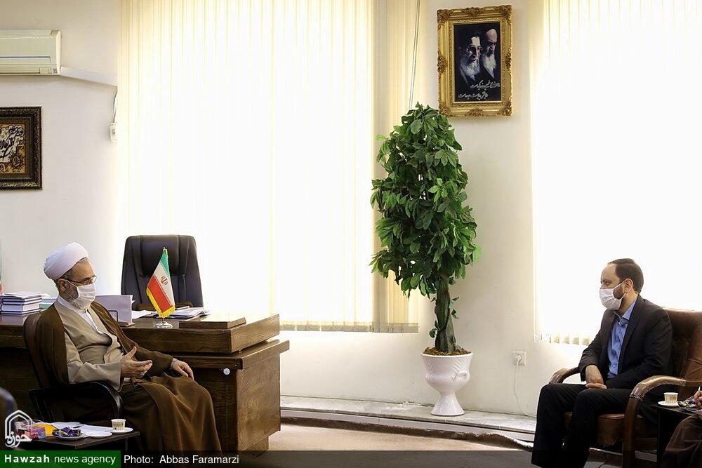 تصاویر/ دیدار مدیر شبکه قرآن و معارف سیما با آیت الله اعرافی در قم