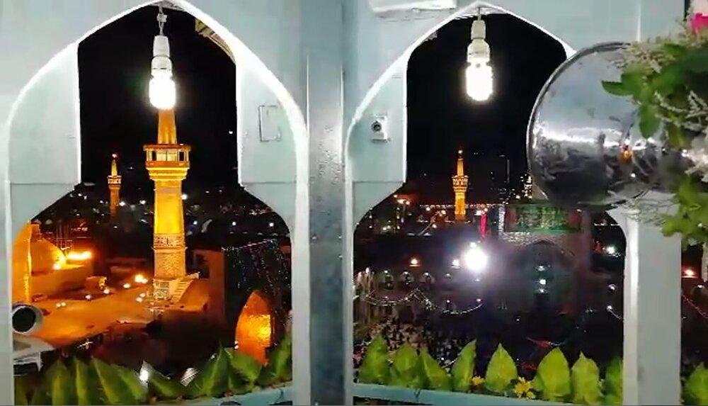 فیلم   نواختن اختصاصی نقارهخانه حرم رضوی در شب میلاد امام هشتم