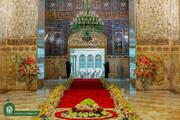 ویڈیو  جشن ولادت امام رضا کی مناسبت سے حرم کو پھولوں سے سجا دیا گیا