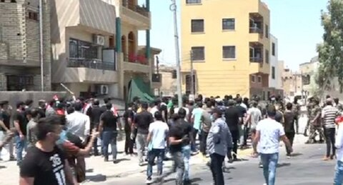 تظاهرات مردم عراق در محکومیت اهانت روزنامه سعودی به آیت الله العظمی سیستانی