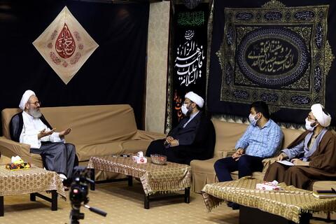 تصاویر/ دیدار رییس سازمان تبلیغات قم با آیت الله فقیهی