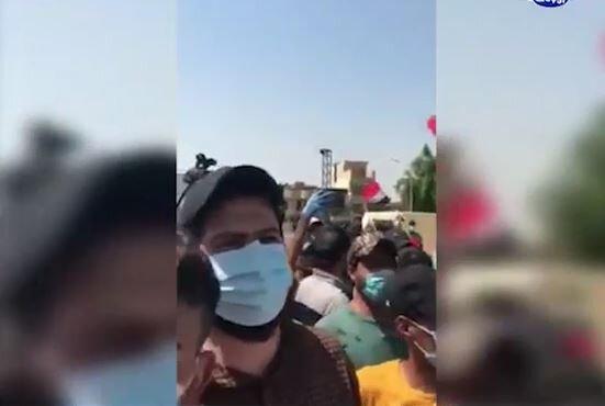 فیلم | تظاهرات عراقیها مقابل سفارت عربستان در بغداد
