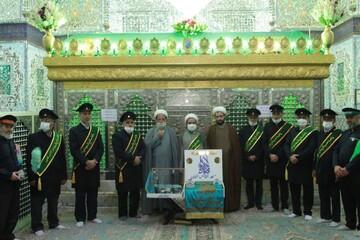 تصاویر/ بازدید خادمان مسجد جمکران از آستان مقدس امام زاده حسین (ع) قزوین
