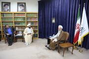 تصاویر/ دیدار دستاندرکاران پویش «اگر من جای مدیر حوزههای علمیه بودم...» با آیت الله اعرافی