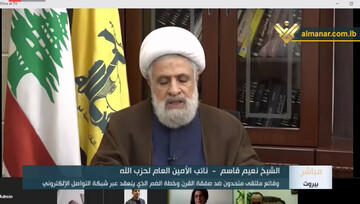 """Sheikh Qassem: """"Deal of the Century"""" is rejected because it imposes on Palestinians to Bequeath Land"""
