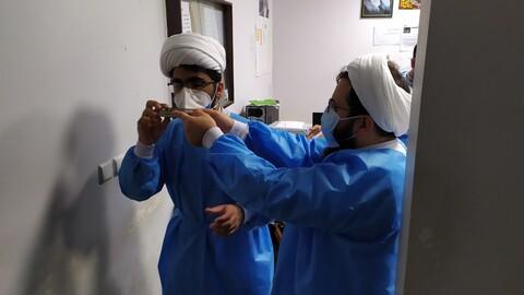 تصاویر حضورمرحله دوم طلاب جهادی در بیمارستان های هرمزگان