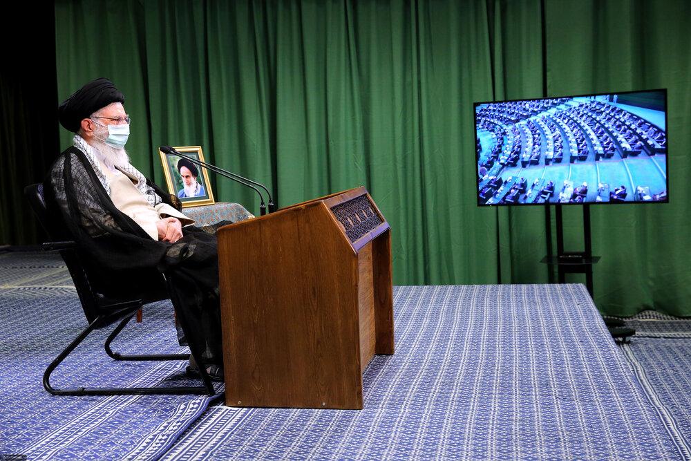 فیلم کامل بیانات رهبر معظم انقلاب در ارتباط تصویری با نمایندگان مجلس شورای اسلامی