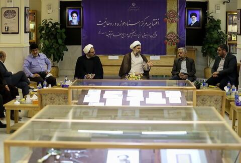 تصاویر/ بازدید معاون فرهنگی تبلیغی دفتر تبلیغات اسلامی از مرکز اسناد حوزه