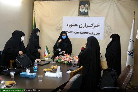 """بالصور/ إقامة ندوة تخصصية تحت عنوان """"العفاف والحجاب"""" في وكالة أنباء الحوزة بقم المقدسة"""