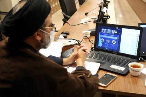 وبینار مدیریت فرهنگی بینالمللی در دوران پساکرونا در مرکز مدیریت حوزه