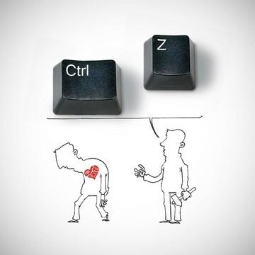 """تو زندگی خیلی چیزها"""" ctrl+z """"نداره"""