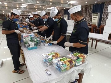 انطلاق مشروع (الفيض العلوي) لتوزيع وجبات الطعام على المصابين بجائحة كورونا