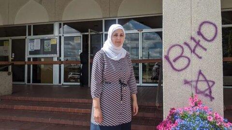 شعارنویسی نژادپرستانه، نمای بیرونی مسجد ادمونتون را مخدوش کرد