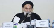 الشيخ إبراهيم العاملي ينعي  السيد نجيب خلف الحسني